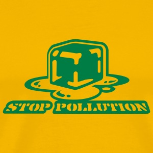 Yellow stop pollution T-Shirts - Men's Premium T-Shirt
