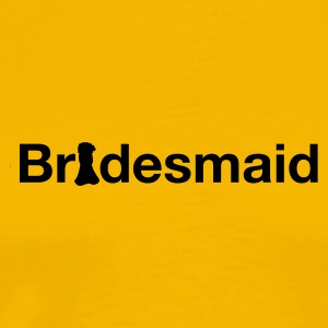 Yellow bridesmaid T-Shirts - Men's Premium T-Shirt