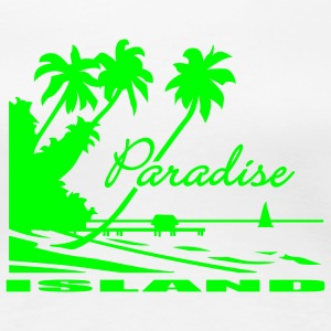 White Paradise Ladies' - Women's Premium T-Shirt