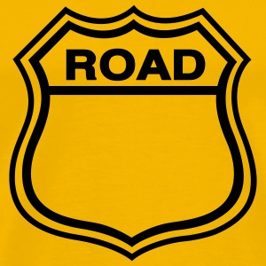 Yellow Road Shield T-Shirts - Men's Premium T-Shirt