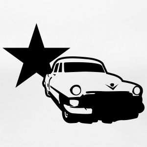 White Car Star Ladies' - Women's Premium T-Shirt