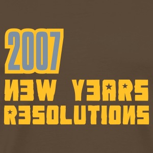 Braun 2007 Resolutions T-Shirt - Männer Premium T-Shirt