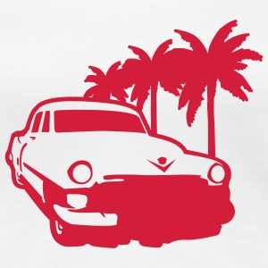 White Palms and Car Ladies' - Women's Premium T-Shirt