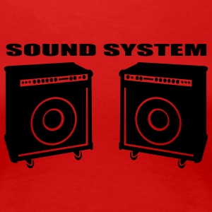 Red Sound System Ladies' - Women's Premium T-Shirt