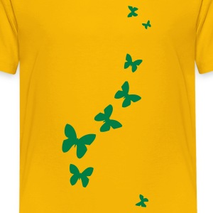Geel butterflies Kinderkleding - Teenager Premium T-shirt