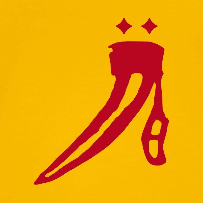 Name vorne - großes Logo hinten