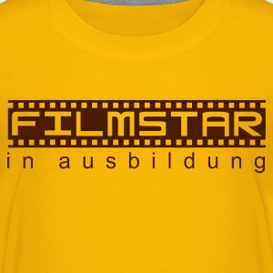Gelb Filmstar in Ausbildung Kinder - Teenager Premium T-Shirt