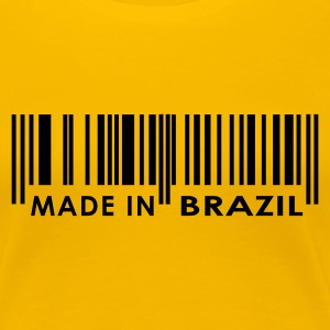 Gul Made in Brazil Damer - Dame premium T-shirt
