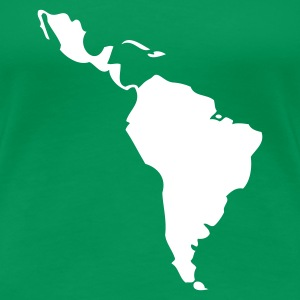 Kelly green Latin America - South America Ladies' - Women's Premium T-Shirt