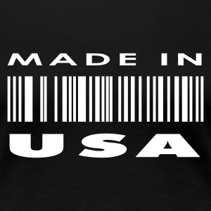 Black Made in USA Ladies' - Women's Premium T-Shirt