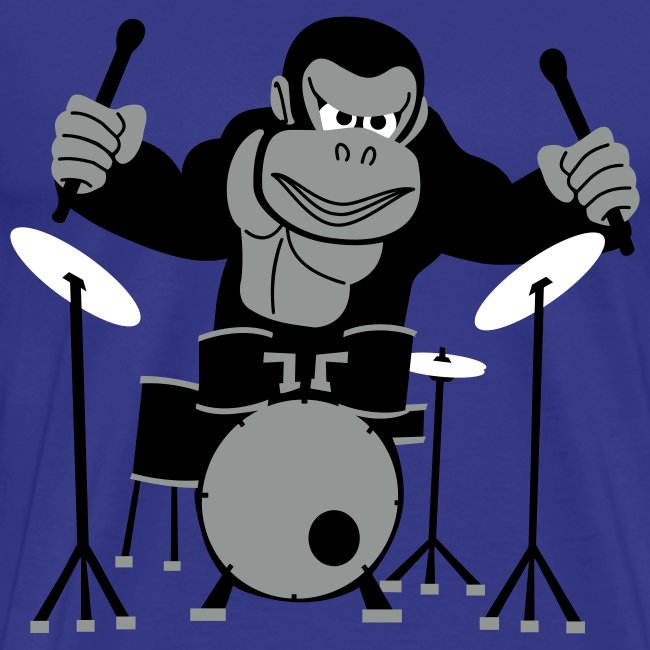Drumming Gorilla (Light Blue)