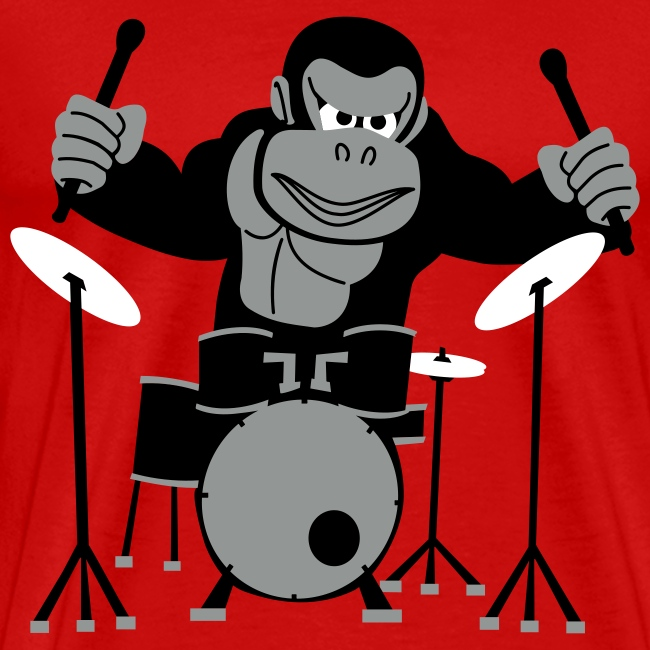 Drumming Gorilla (Light Blue)