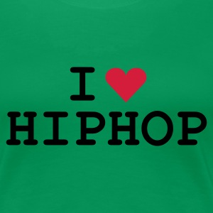 Kelly green love_hiphop Girlie - Dame premium T-shirt