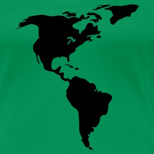 Kelly green Americas Ladies' - Women's Premium T-Shirt