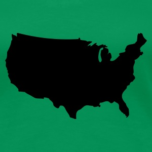 Kelly green USA - United States of America Ladies' - Women's Premium T-Shirt