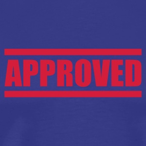 Royal blue approved T-Shirts - Men's Premium T-Shirt