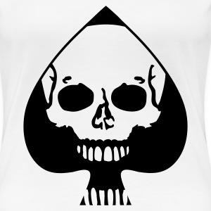 White Ace of Spades Ladies' - Women's Premium T-Shirt