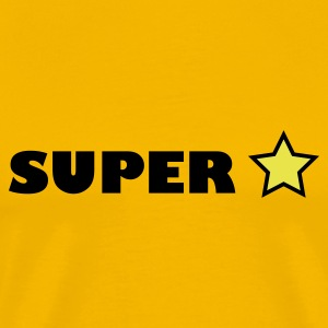 Yellow super star T-Shirts - Men's Premium T-Shirt