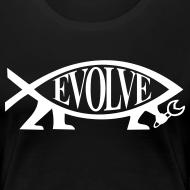 Motiv ~ Continental Classic Girlie Evolve Atheisten Shirt Damen