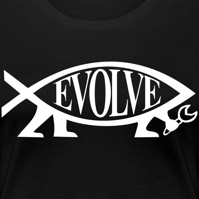 Continental Classic Girlie Evolve Atheisten Shirt Damen