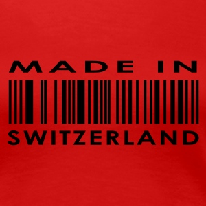 Red Made in Switzerland Ladies' - Women's Premium T-Shirt