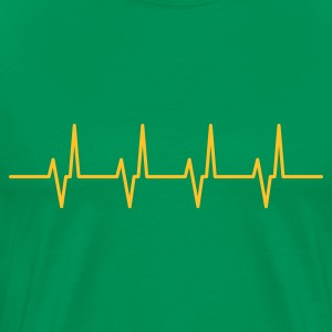 Bottlegreen heartbeat T-Shirts - Men's Premium T-Shirt