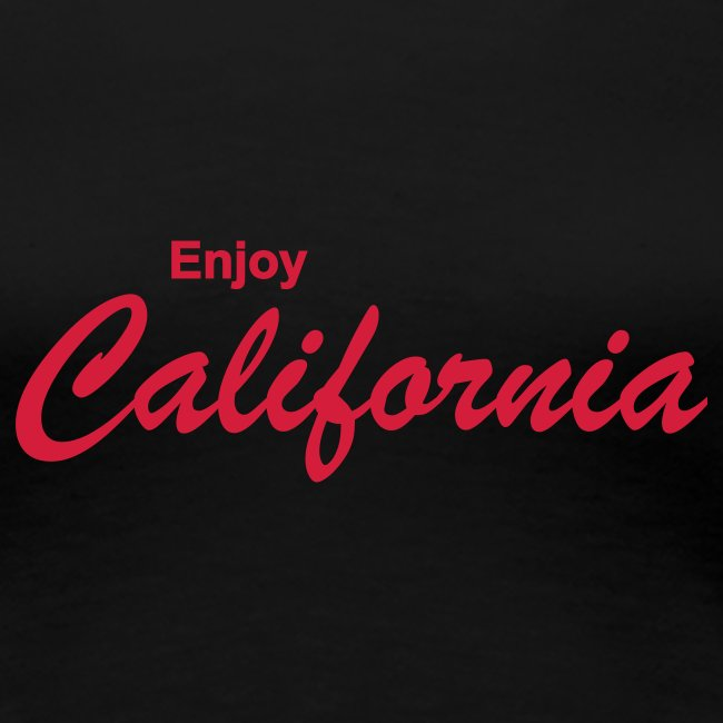 "Girlie-Shirt ""ENJOY CALIFORNIA"" schwarz"