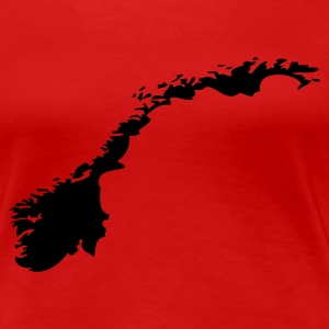 Rot Norwegen Girlie - Frauen Premium T-Shirt