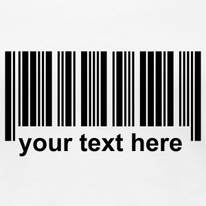 Barcode with own text NL - Vrouwen Premium T-shirt