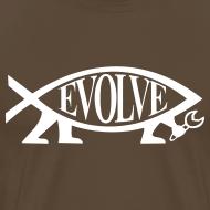 Motiv ~ Evolve Shirt mit weissem Fisch. Viele Farben!