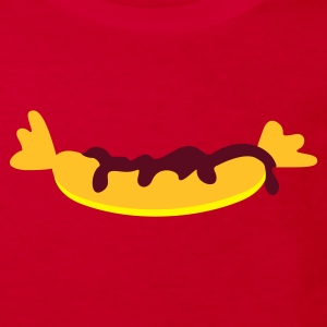 Rouge saucisse à la moutarde  / sausage with mustard (3c) T-shirts Enfants - T-shirt Bio Enfant