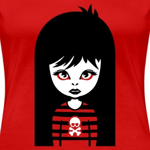 Rot bad gothic girl Girlie - Frauen Premium T-Shirt