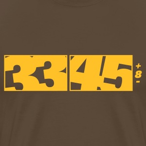 Brown 33 / 45 DJ Logo Men's Tees (short-sleeved) - Men's Premium T-Shirt