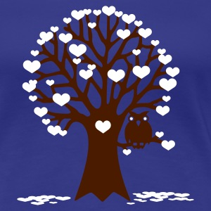 Türkis tree of love Girlie - Frauen Premium T-Shirt