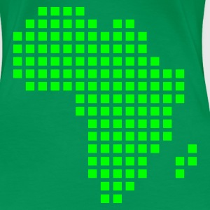 Kelly green Africa pixel map Ladies' - Women's Premium T-Shirt