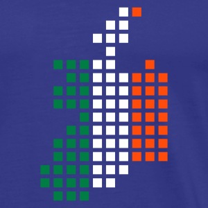 Sky Ireland flag pixel map T-Shirts - Men's Premium T-Shirt