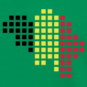 Grass green Belgium flag pixel map T-Shirts - Men's Premium T-Shirt