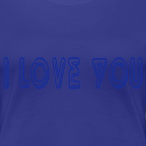 Turkos I love You Damtröja - Premium-T-shirt dam