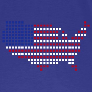 Sky United States Pixel Map USA T-Shirts - Men's Premium T-Shirt