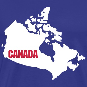 Royal blue Canada map T-Shirts - Men's Premium T-Shirt