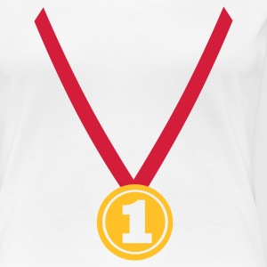 White Winner Medal - Number One 1 Ladies' - Women's Premium T-Shirt