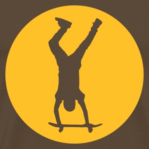 Brown Skateboarding - Handstand in Circle T-Shirts - Men's Premium T-Shirt