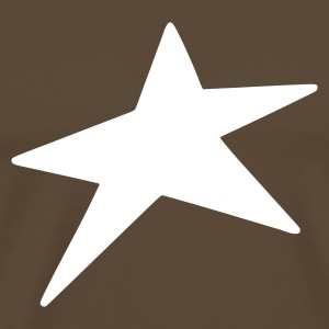 Marron Crazy Star  Hommes - T-shirt Premium Homme