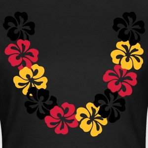 Olijfgroen Neck lace - Hawaii Flower T-shirts (korte mouw) - Vrouwen T-shirt