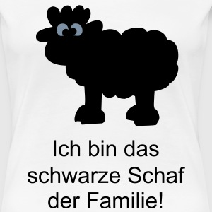 Weiß sheepblack Girlie - Frauen Premium T-Shirt