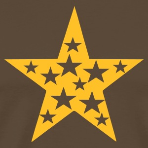 Marron Star with Stars Hommes - T-shirt Premium Homme