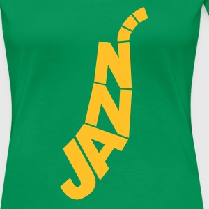 Kelly green Jazz Logo  Women's Tees (short sleeved) - Women's Premium T-Shirt