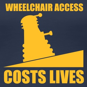 Navy Wheelchair Access Ladies' - Women's Premium T-Shirt