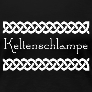 Schwarz Celtic Border Girlie - Frauen Premium T-Shirt