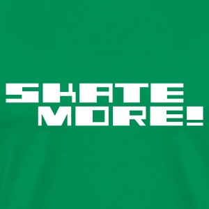 Skate More ! Logo T-Shirt Bottlegreen - Männer Premium T-Shirt